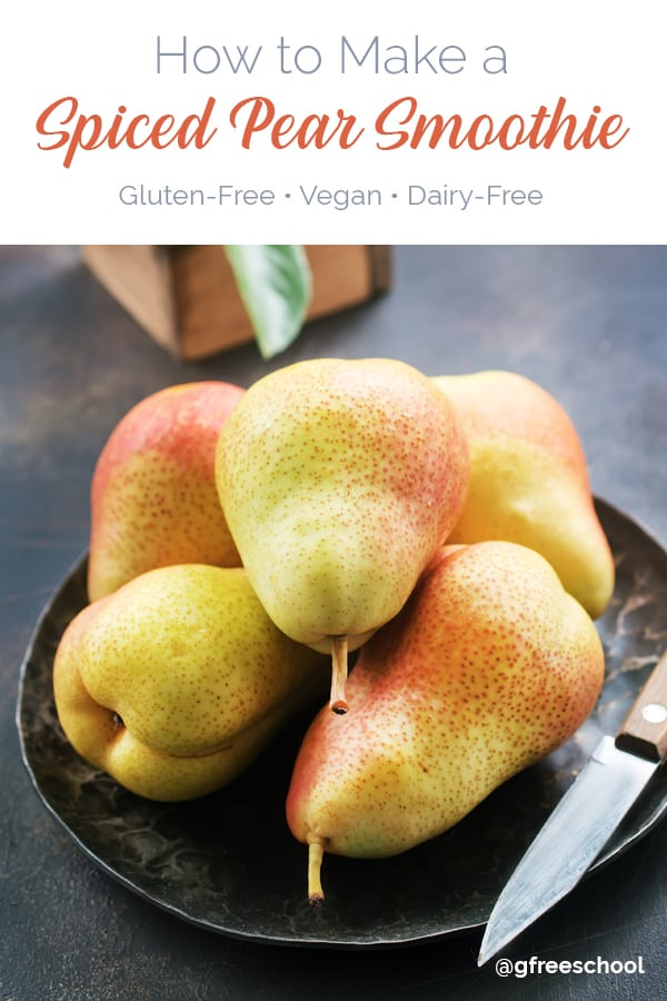 How to Make a Spiced Pear Smoothie