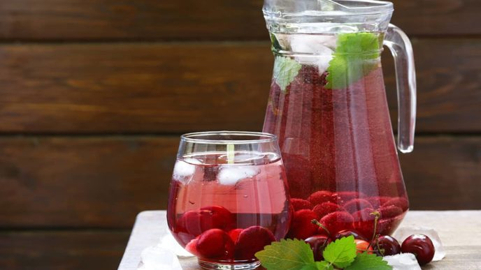 Refreshing Cherry Water