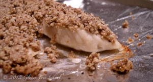 nut crusted fish
