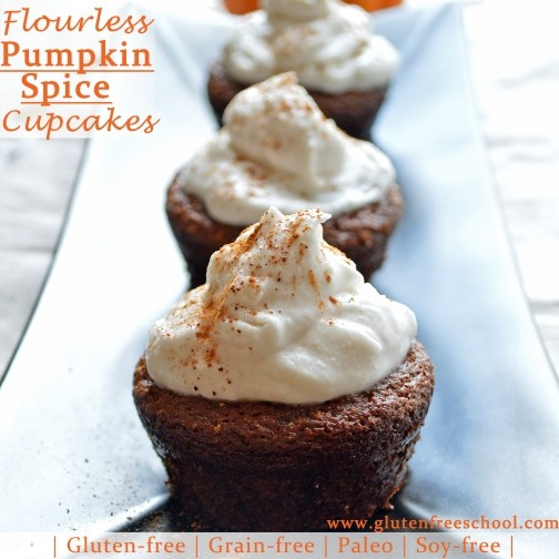 ... Spiced Pumpkin Cupcakes with Coconut Whipped Frosting (Paleo