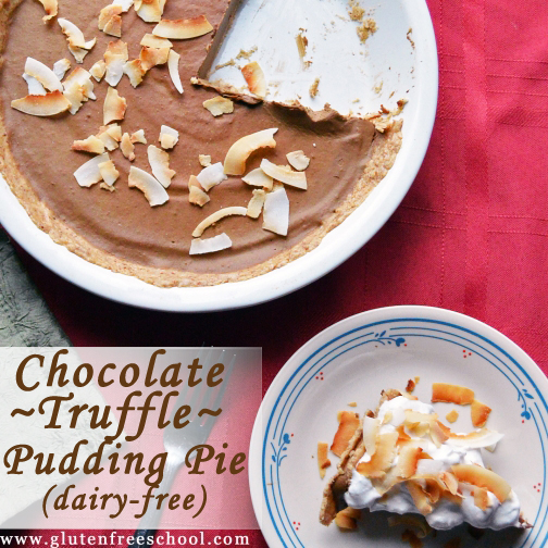 Chocolate Truffle Pudding Pie