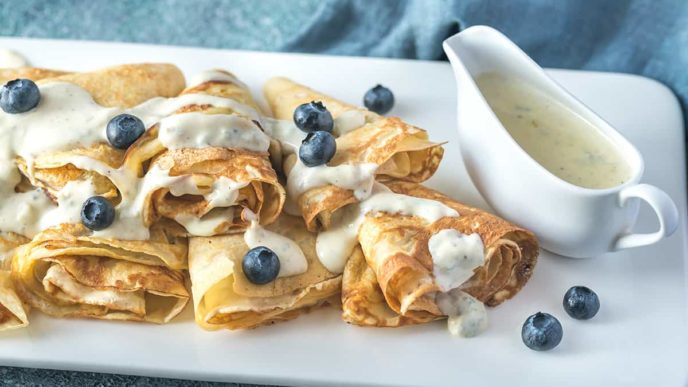 Gluten free and vegan crepes