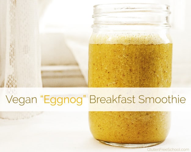vegan eggnog smoothie