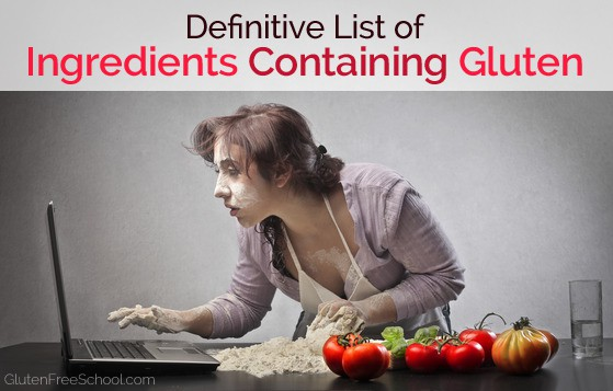 list of ingredients containing gluten