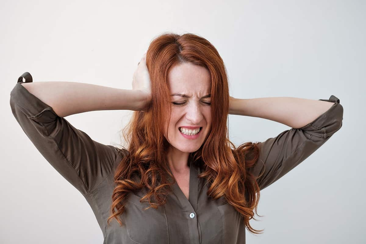 Woman Silencing her Inner Critic