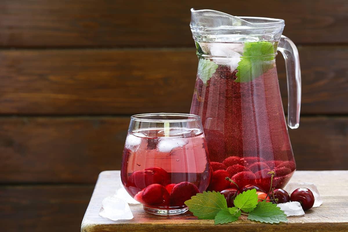 Refreshing Cherry Water