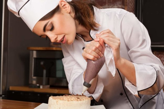 Chef Making Gluten Free Cake