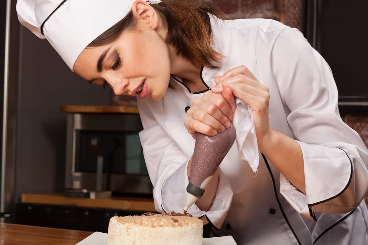 Chef Making Gluten Free Cake