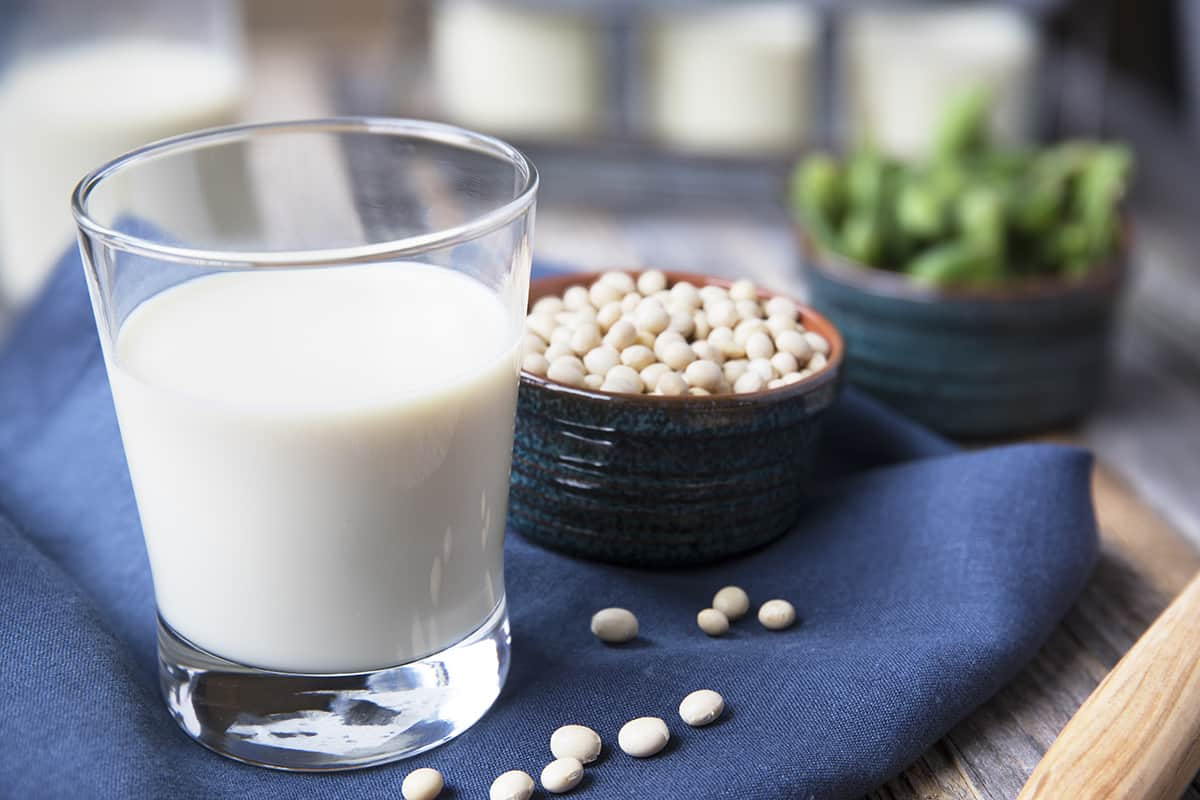 Fresh Glass of Soy Milk