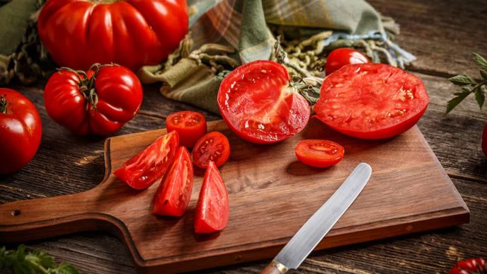 Slice of tomatoes
