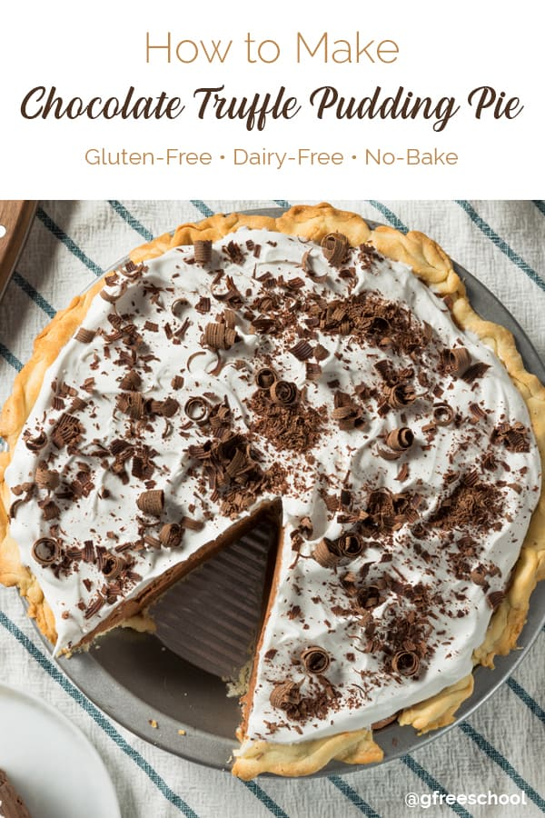 Chocolate Truffle Pudding Pie (Dairy-free)