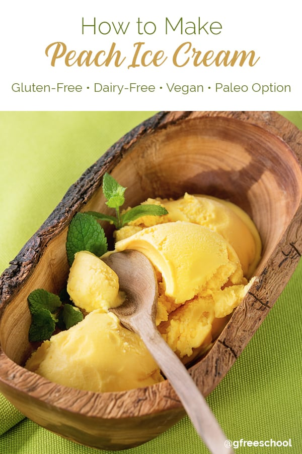 Vegan Peach Ice Cream Recipe
