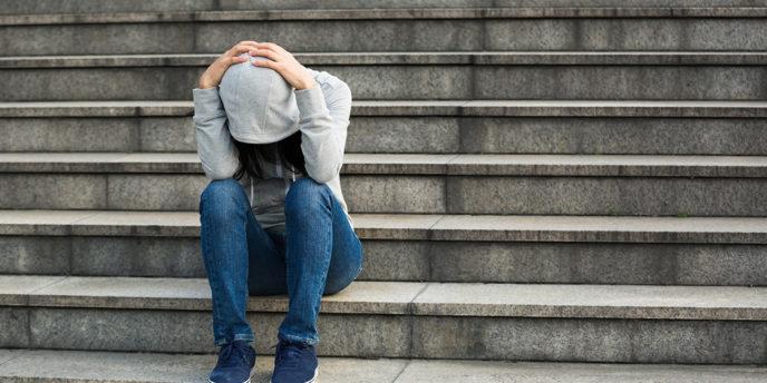 Upset woman with Fibromyalgia