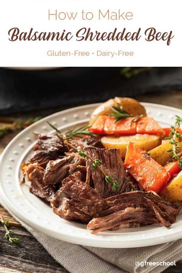 Slow Cooker Balsamic Shredded Beef Recipe